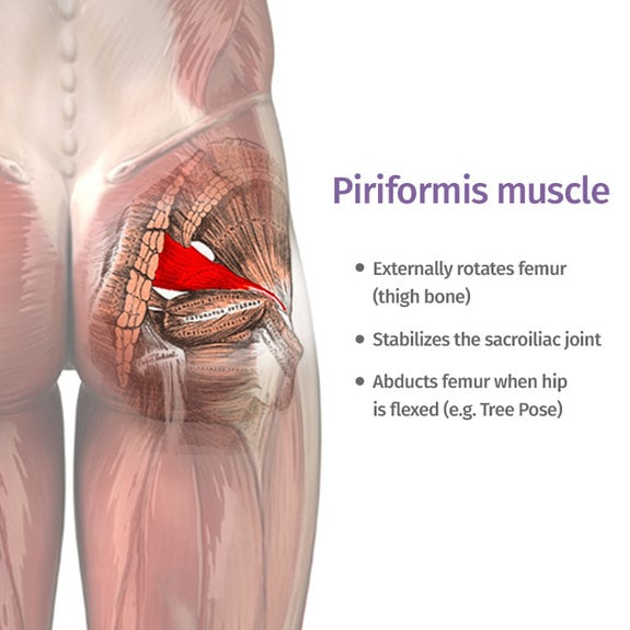 piriformis syndrome causes deep buttock and leg pain.